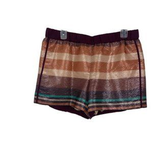 LOFT Sequin Striped Track Shorts Size Medium EUC
